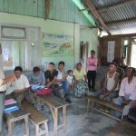 Addressing the Local Community at a primary school at Jinglam Tea Garden